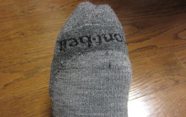 モンベルのメリノウール靴下