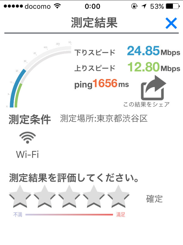 笹塚駅での民泊Wi-Fi検証