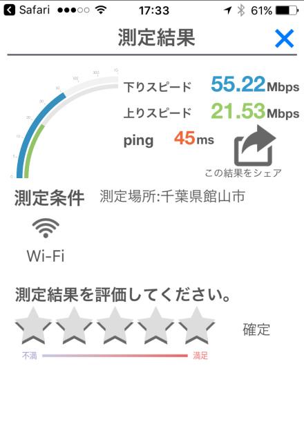 容量制限のない民泊wifiのスピード