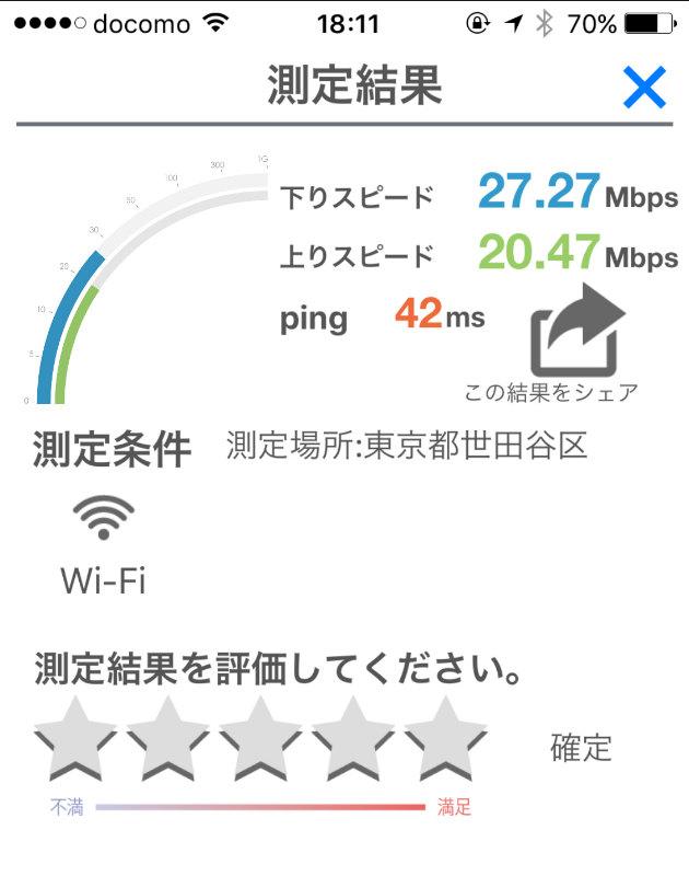 明大前駅での民泊Wi-Fi検証