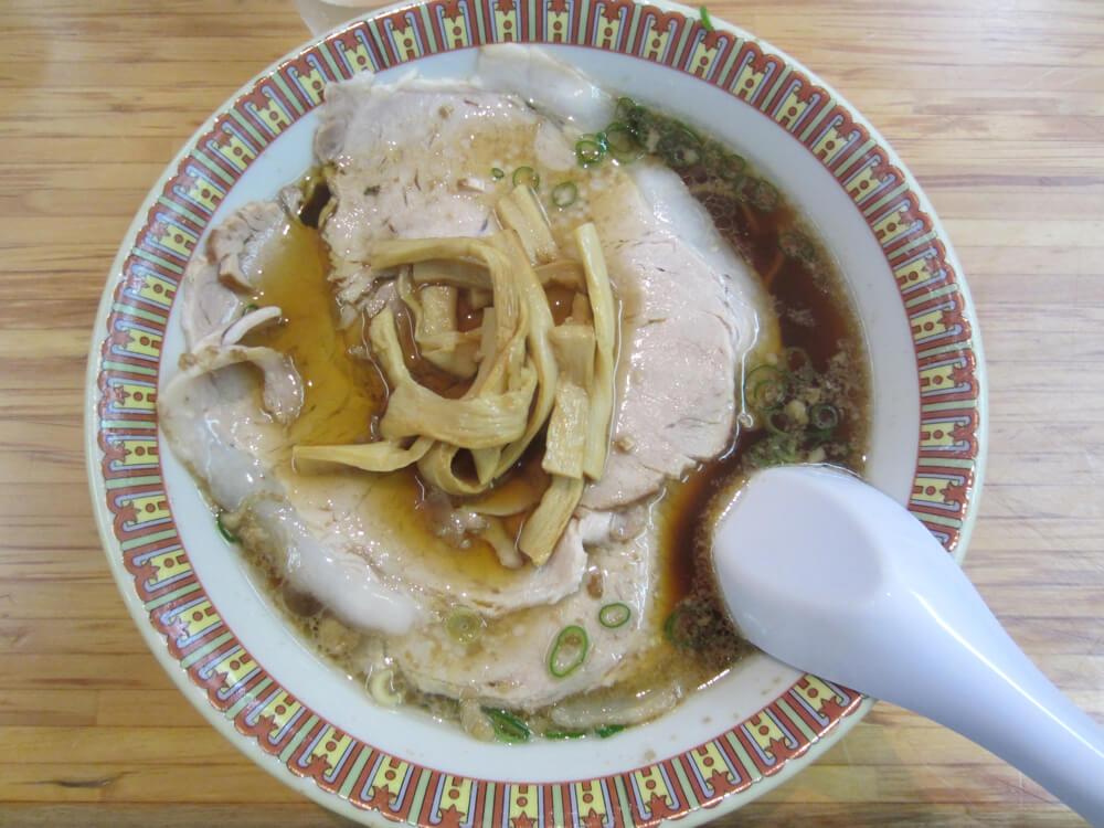 尾道ラーメン朱華園のチャーシュー麺