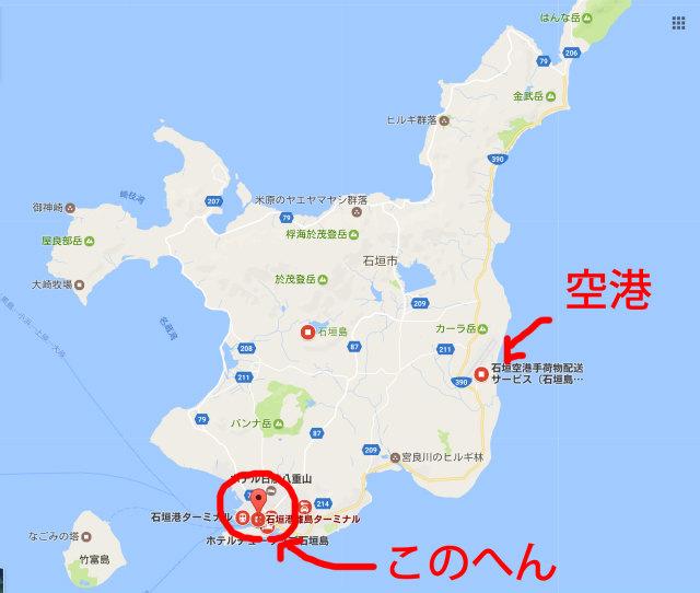 石垣島離島ターミナル付近のゲストハウス