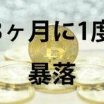 仮想通貨は3ヶ月に1度暴落