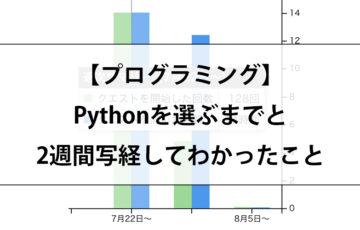 Pythonプログラミング初心者