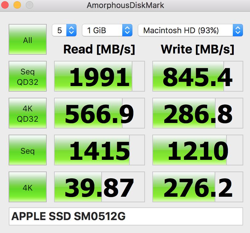 MacBookPro速度